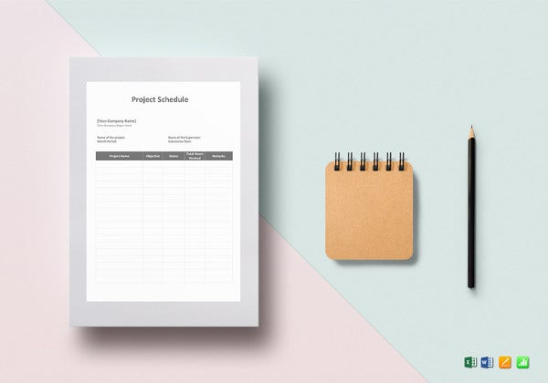 simple project schedule template