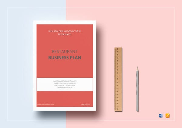Restaurant Business Plan Template Free PDF Word Documents - Simple business plan outline template