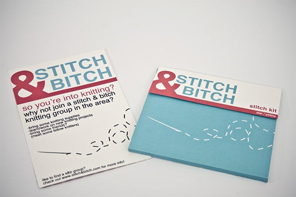 simple stitch campaign flyer template
