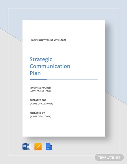 simple strategic communication plan template1
