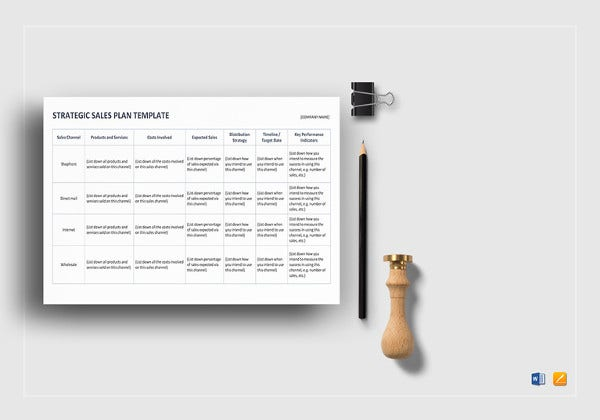simple strategic sales plan word template