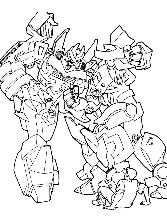 simple transformer coloring page