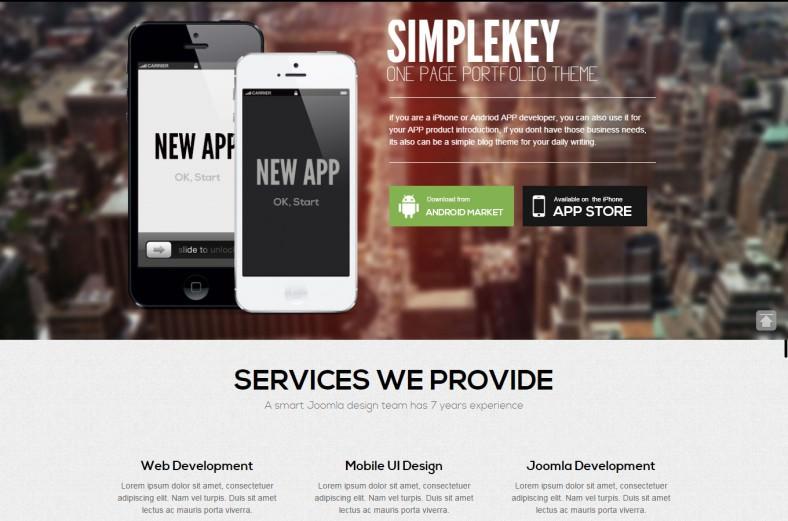 simplekey artist portfolio joomla theme 43 788x521