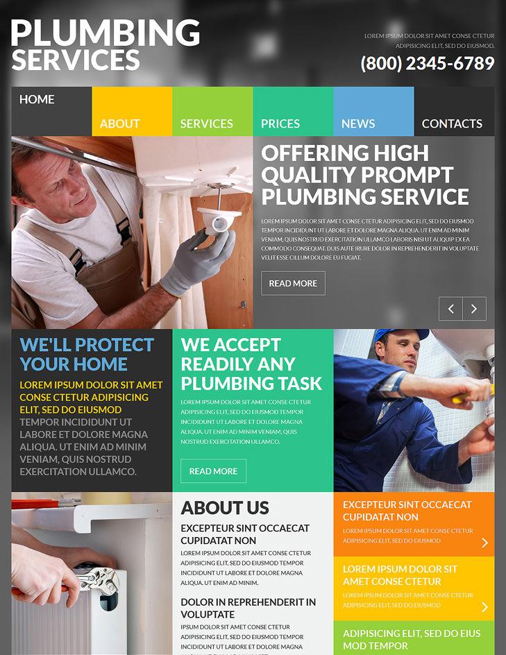skilled plumbers joomla theme 75
