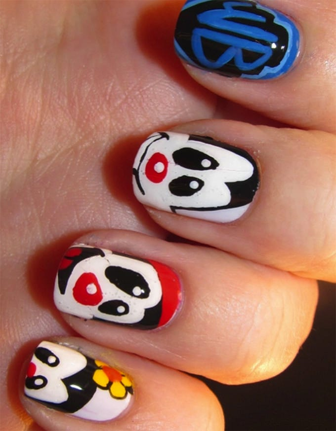 smileys creative nail art