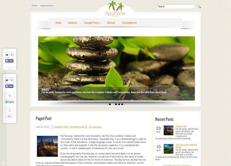 Premium WordPress SpaPress Theme
