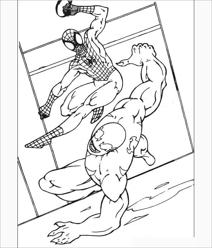 spiderman colouring picture
