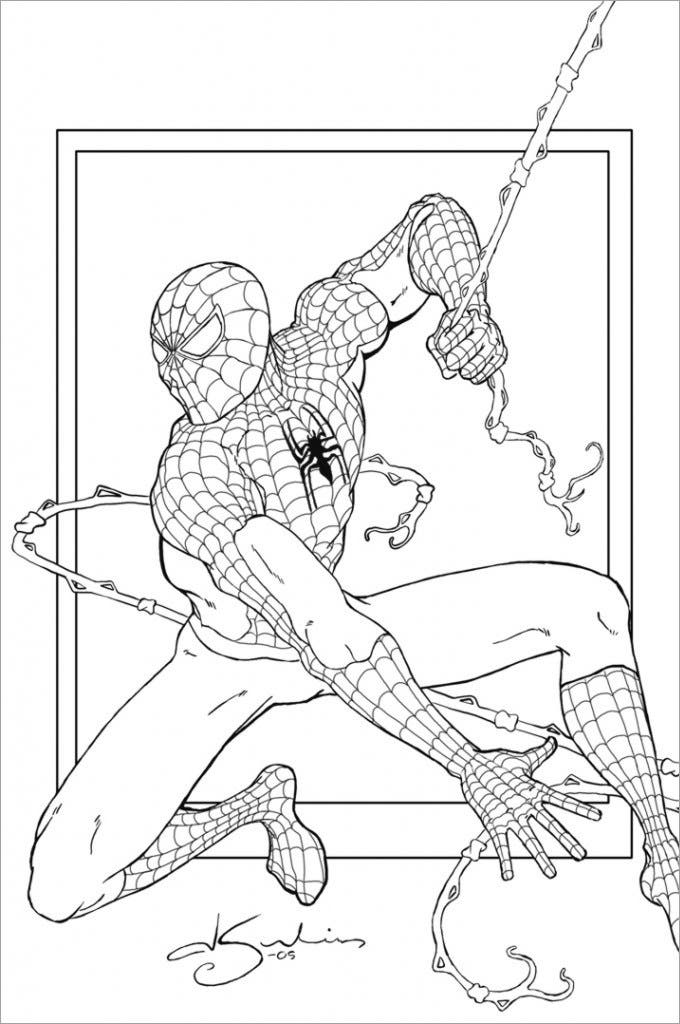 spiderman pictures to colour