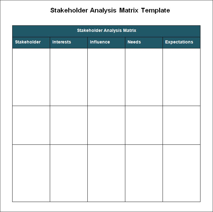 Stakeholder Analysis Template 5 Free Word Excel PDF Documents