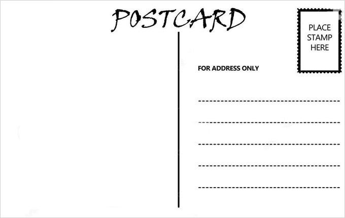 Elegant Standard Postcard Template Within Postcard Template Free Printable