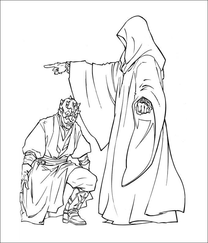 star wars coloring page online