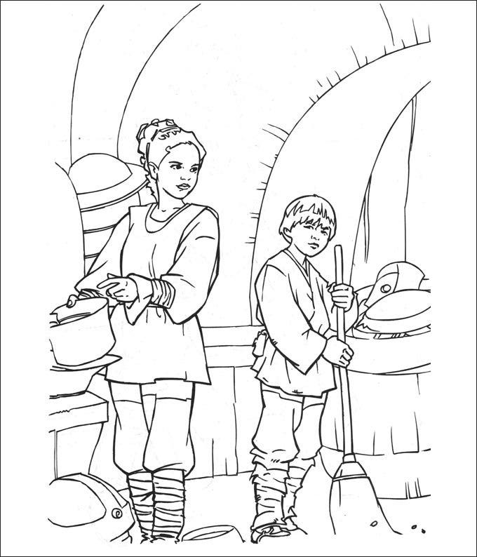 star wars party supplies coloring page