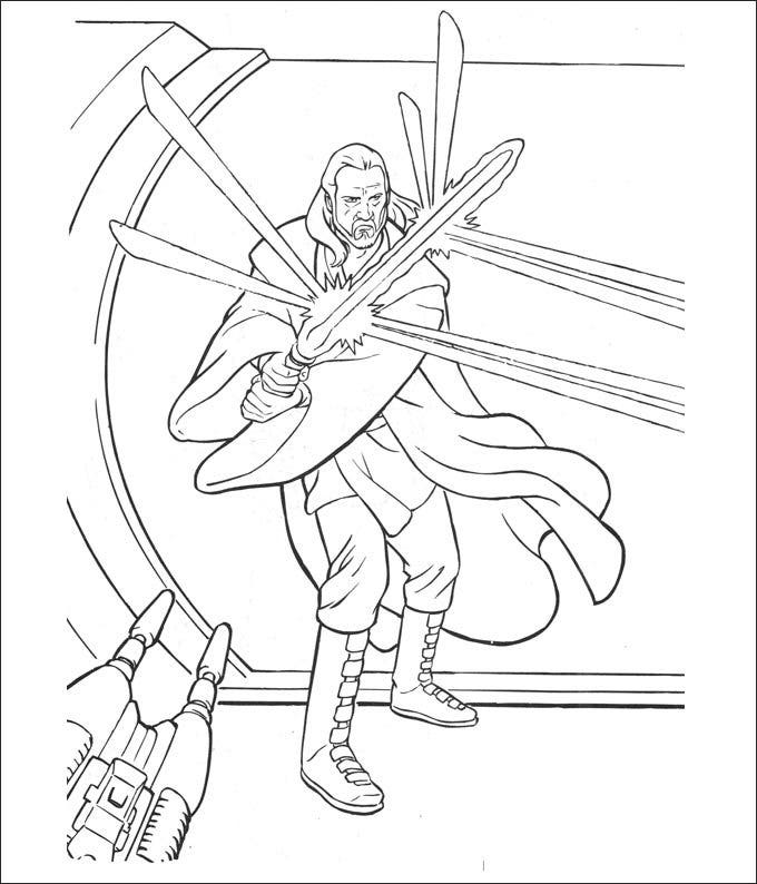 star wars shop coloring page