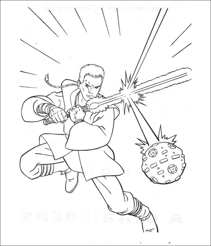 star wars the clone wars coloring page
