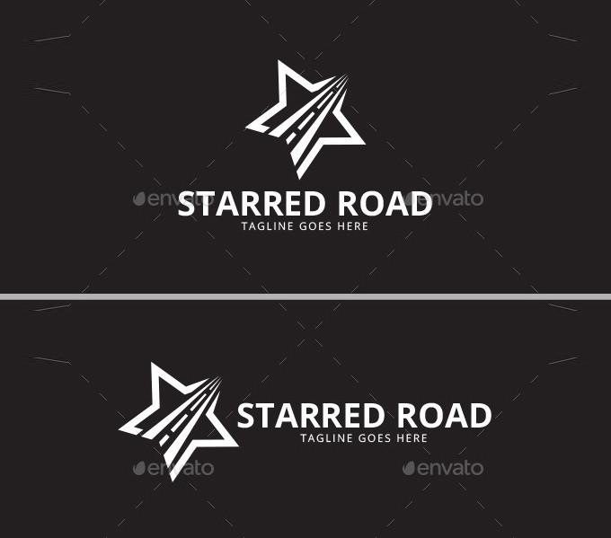 starred road star logo