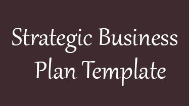 strategicbusinessplantemplate