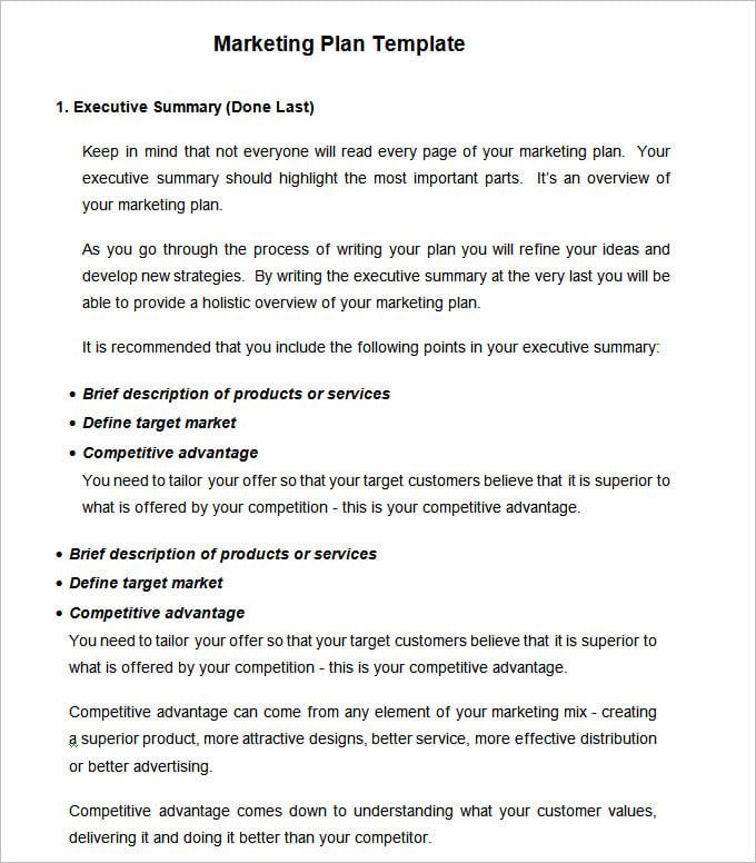 Free Download Sample Strategic Marketing Plan Templates  3 Samples rO9megV7