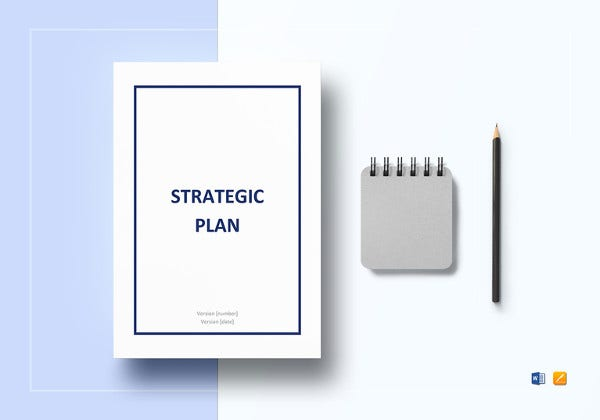 strategic plan template in word