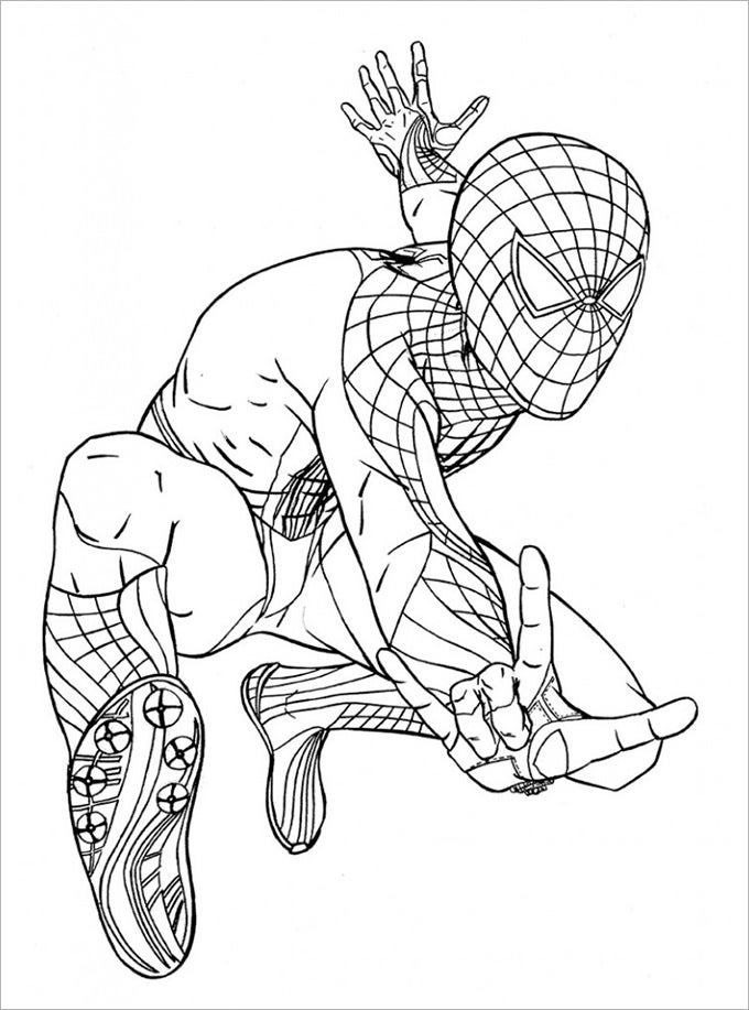 stunt spiderman coloring page - Colouring Pages Print