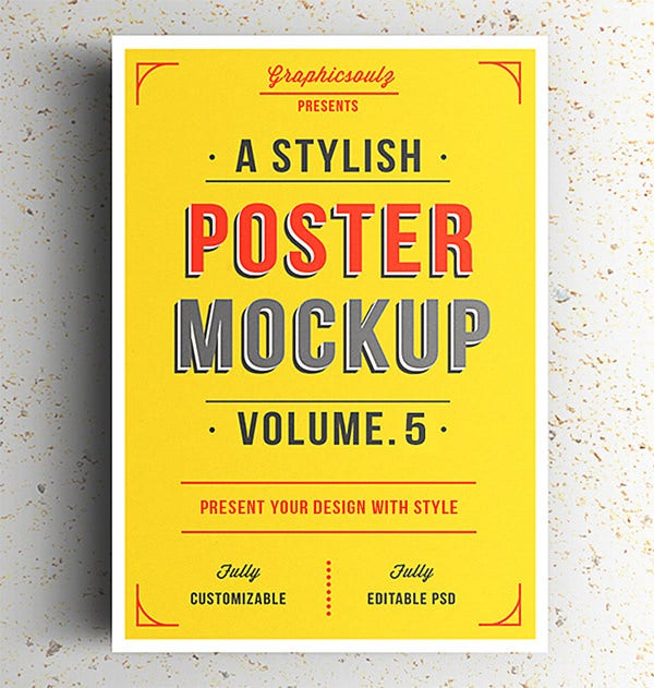 stylish poster mockups