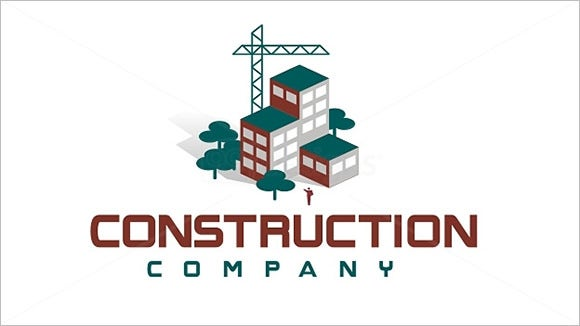 stylized construction company logo