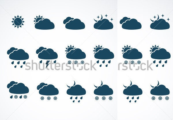 suite of weather web icons