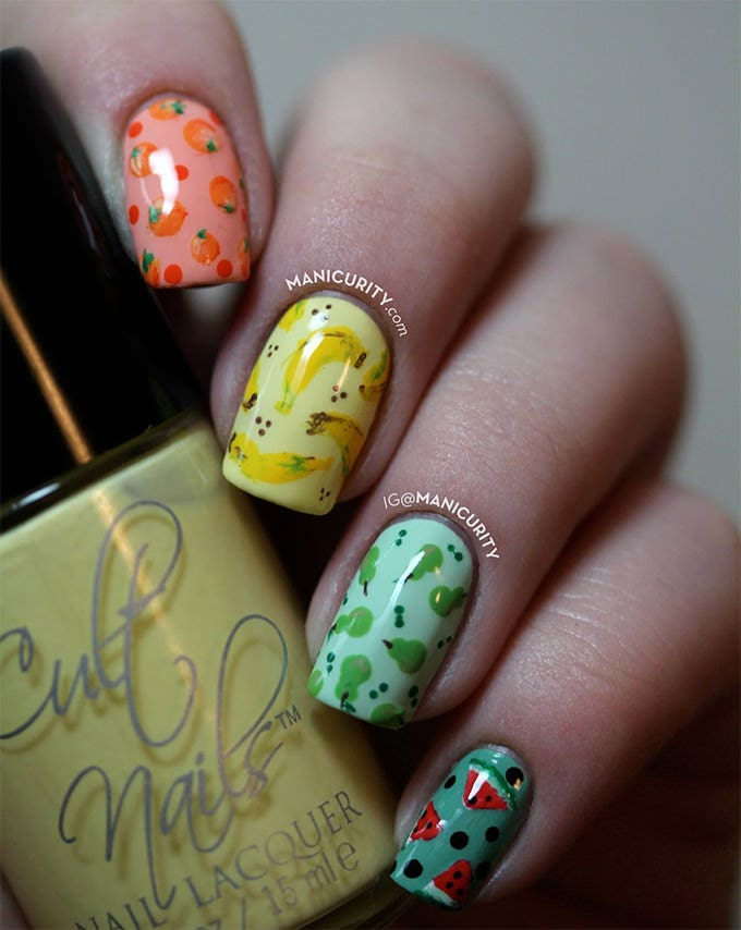 summer nail polish design
