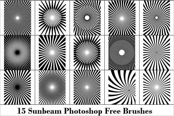 sun rays free photoshop brushes