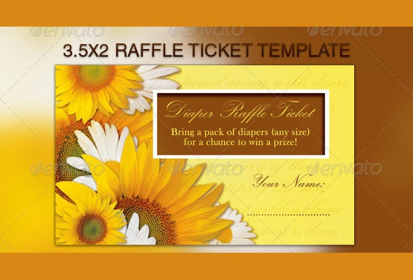 sunflowers raffle flyer template