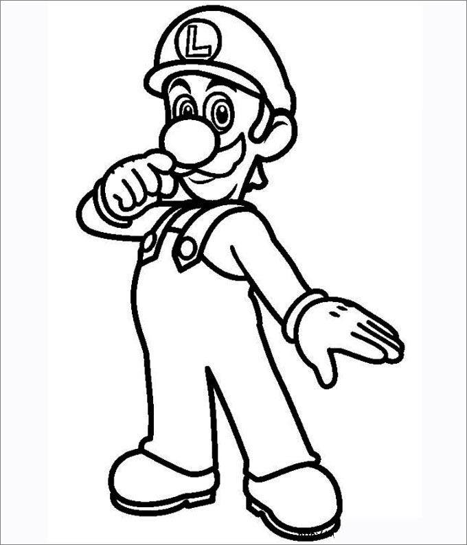 mario brothers coloring pages free - photo#24