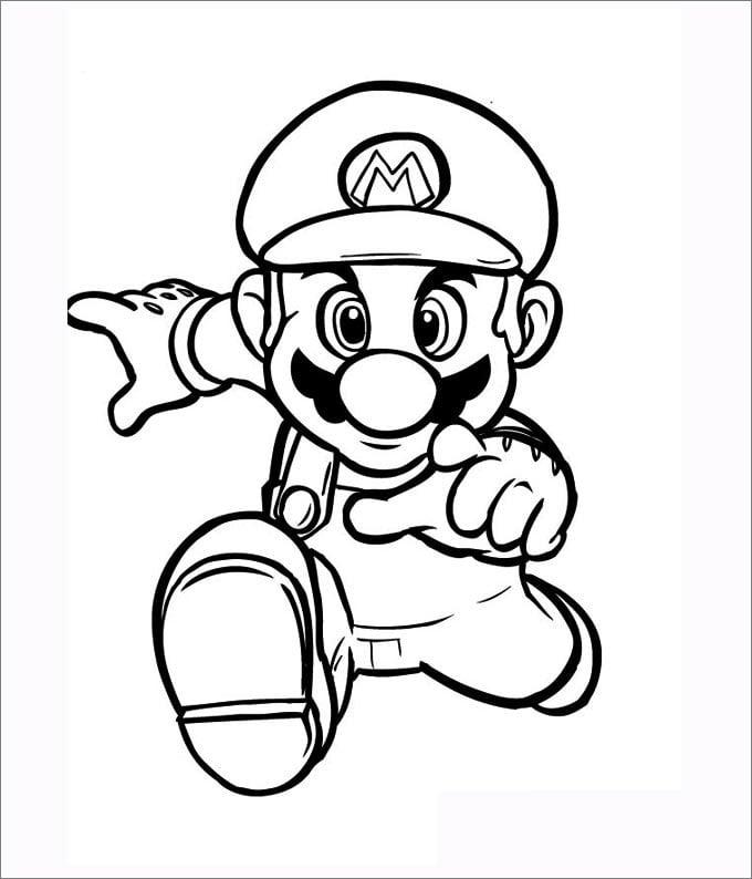 Mario Coloring Pages Free amp Premium Templates