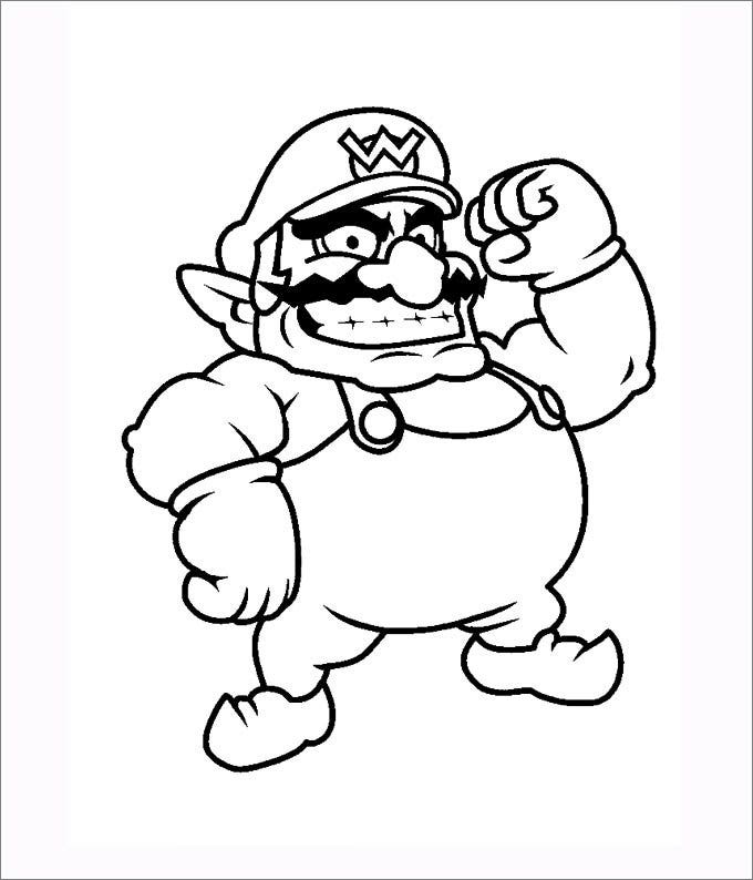 mario bro yoshi coloring pages - photo#26
