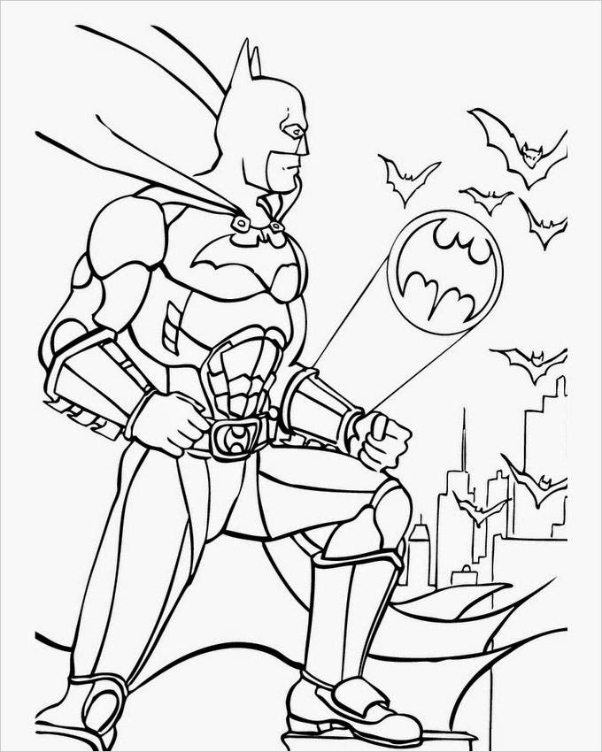 superhero free coloring pages - photo#26