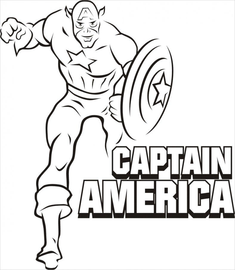 Superhero Captain America Coloring Pages Free Premium Templates Printable