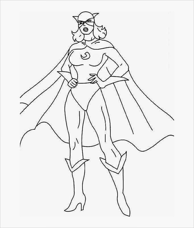 superhero catwomen coloring pages