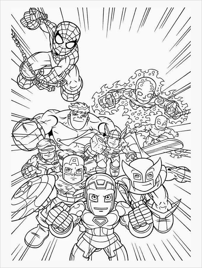 Clever image in free printable superhero coloring pages