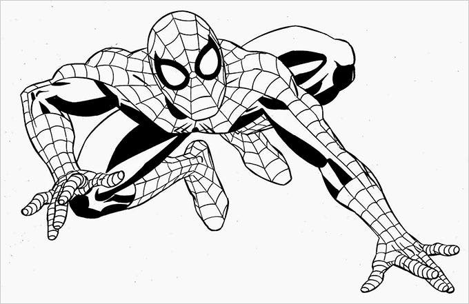 superhero spiderman coloring pages