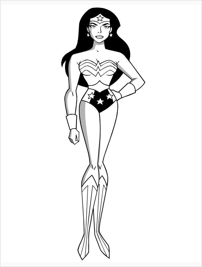 Superhero Wonder Women Coloring Pages