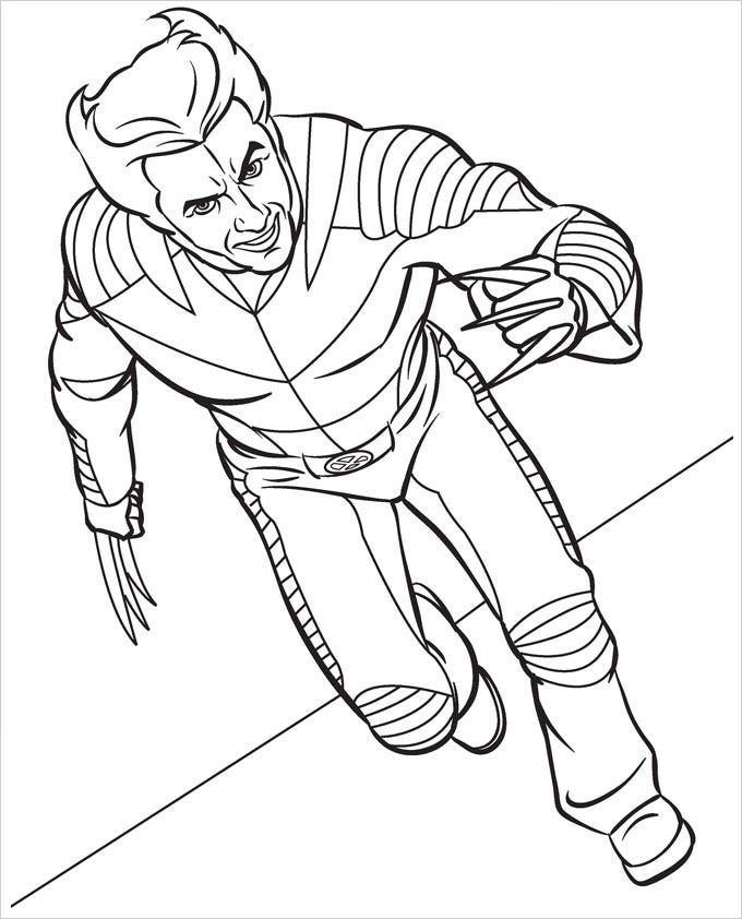 Superhero Coloring Pages - Coloring Pages | Free & Premium Templates