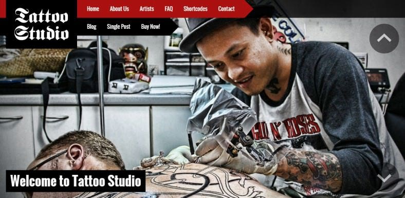 Responsive WordPress Tattoo Studio Theme