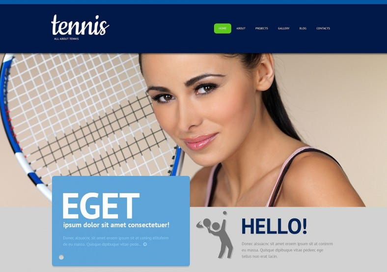 Responsive Tennis WordPress Theme