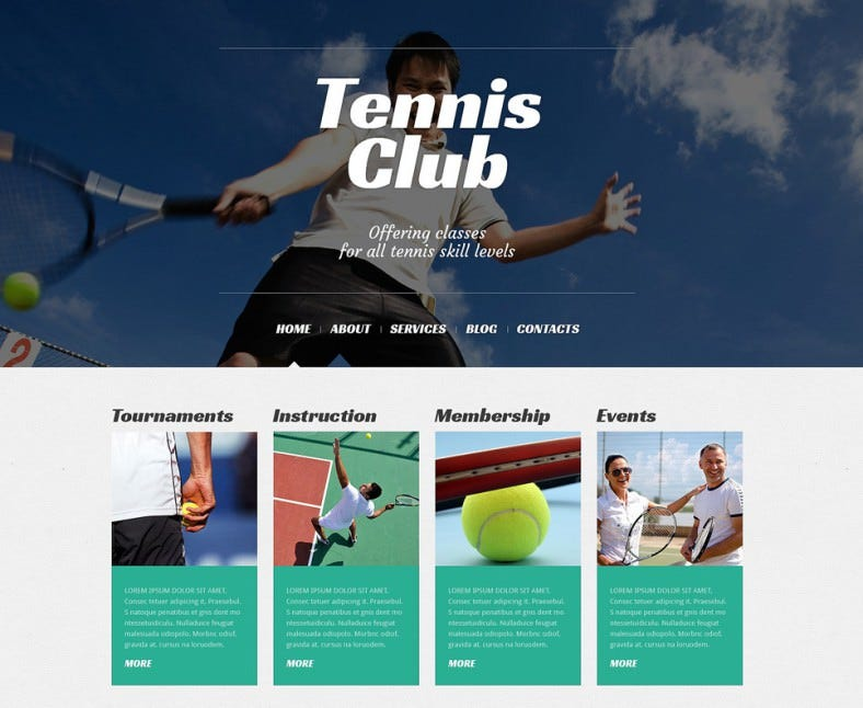 Tennis Responsive WordPress Theme1