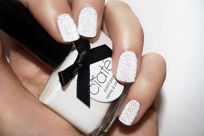 texture wedding nail art design