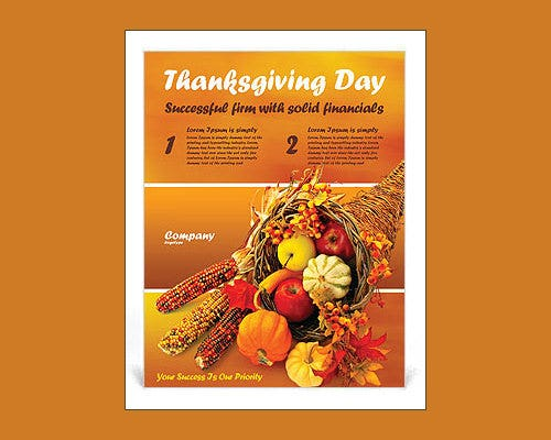 thanks giving word flyer template