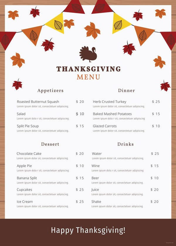 thanksgiving-menu-template