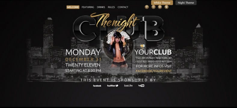The Club 3D HTML Template