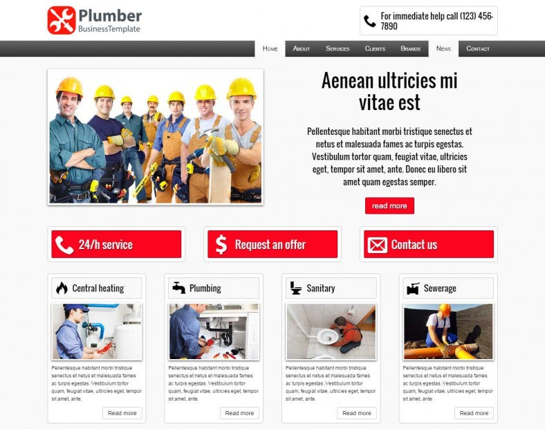 the plumber wordpress template 67 788x620