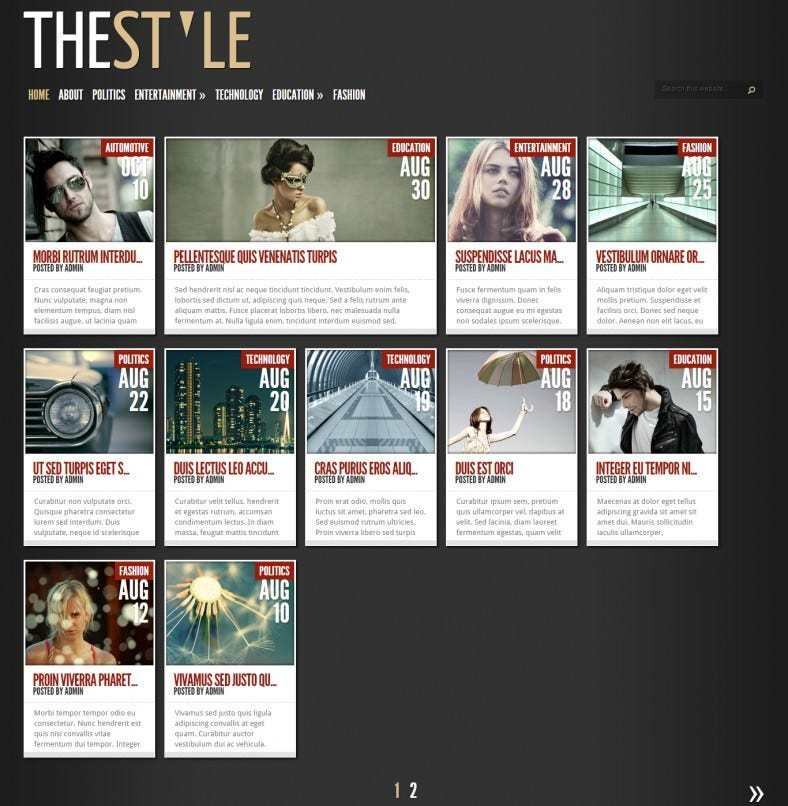 thestyle wordpress theme 788x806