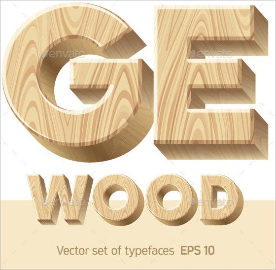 three dimensional wooden alphabet letter 1