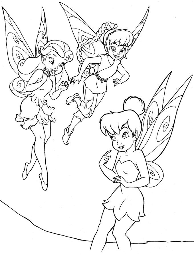 tinker bell fawn and rosetta color page